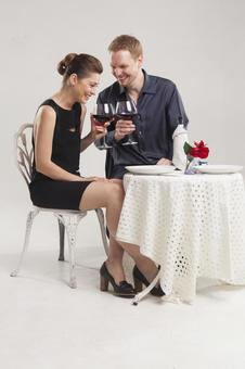 Couple drinking wine 19