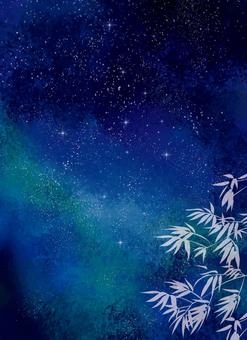 Watercolor starry sky background