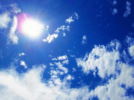 푸른 하늘과 태양