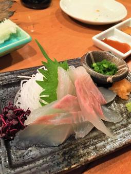Delicious food sashimi