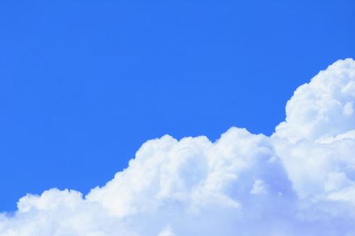 White sky wallpaper with beautiful white clouds in the blue sky Copy space background
