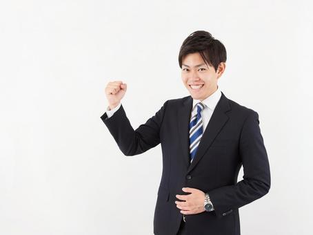 Business image guts pose man