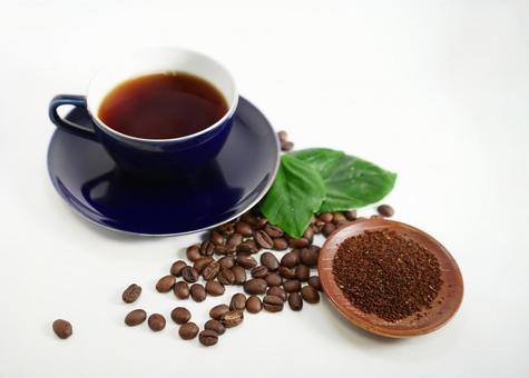 Coffee coffee and beans and flour