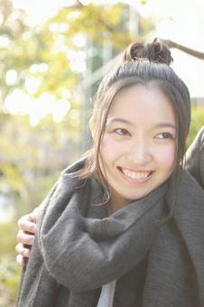 Women of dumpling hair