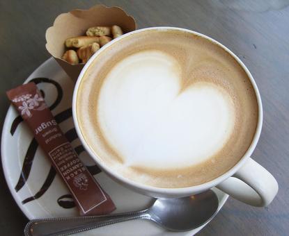 Heart's cafe latte art