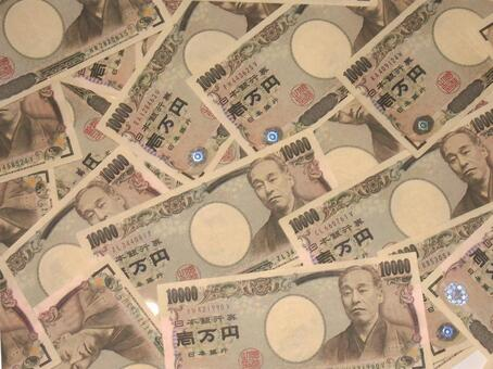 1 ten thousand yen texture background