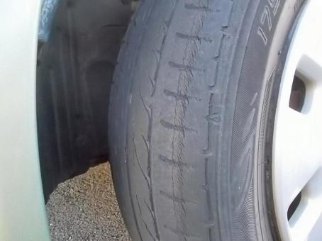 Tires with slip signs
