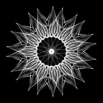 Circle shape art 076 monochrome