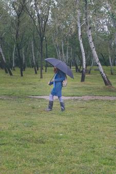 婦女插上傘15