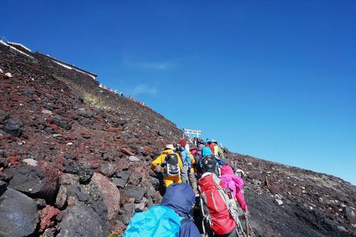 Mt. Fuji and blue sky 0427