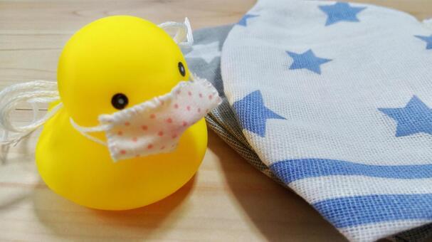 Mask handmade duck