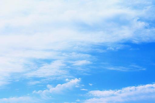 Sky Blue sky Sky background Sky and clouds Blue sky and clouds Light blue sky Gentle sky Sky image Wave-like sky clouds