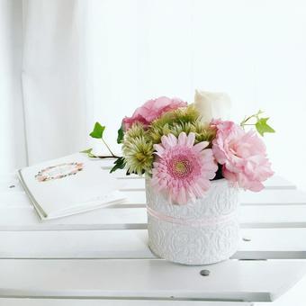 Happy pink gerbera arrangement