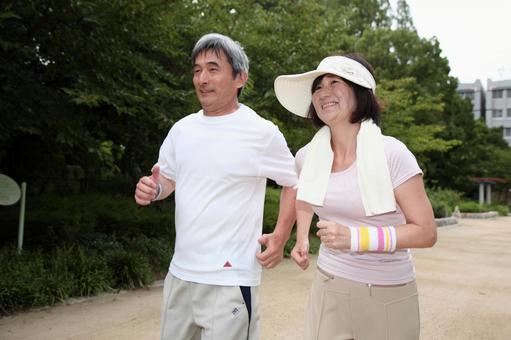 慢跑對老夫婦4