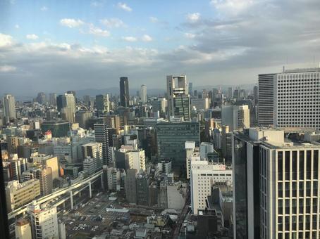 Scenery building in Osaka
