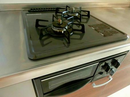 2 mouth gas stove