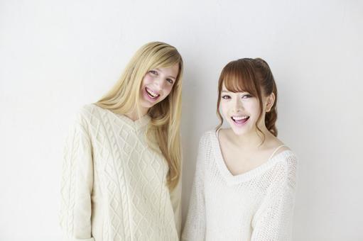 여자 친구 외국인과 일본인 21