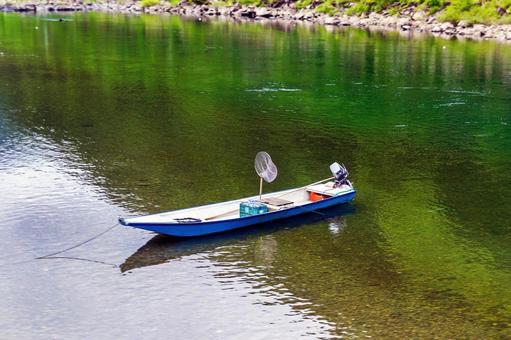 A boat for fishing the Shimanto River