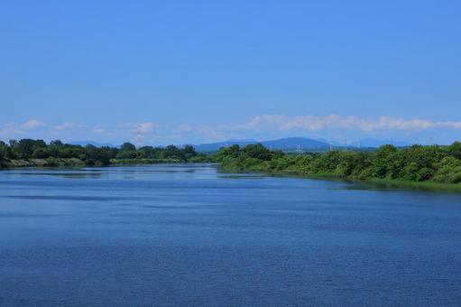 View from Ibaratogawa Oyafuru Bridge