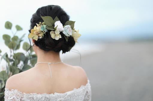 Wedding dress and headset pre-shoot