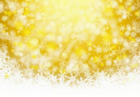 White Christmas Gold-glitter snowflake background material texture