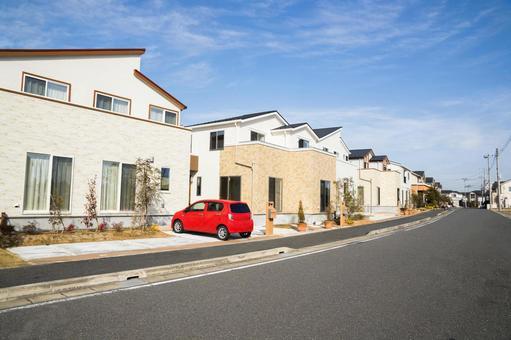 Emerging residential street