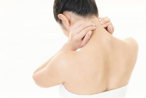 Women suffering from neck pain