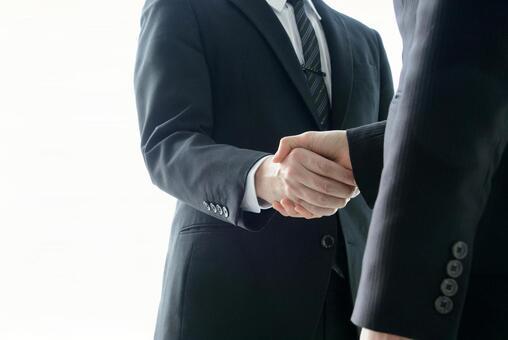 Business scene-handshake