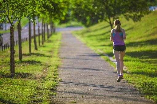 Female to jog at the park 41
