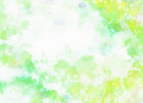 Fresh green image of watercolor