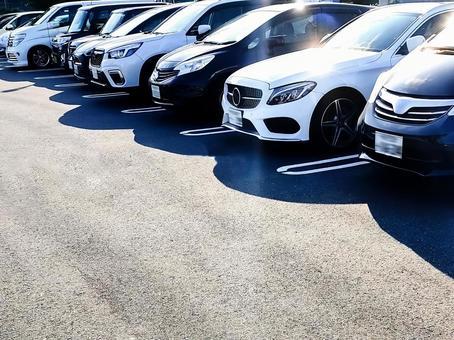 Image of full parking lot