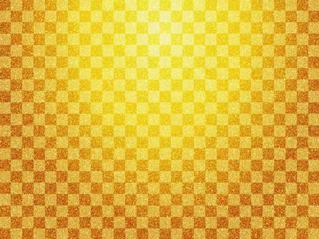 Golden checkered pattern japanese style pattern background material