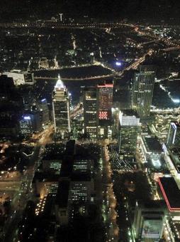 타이베이 101에서 보이는 야경