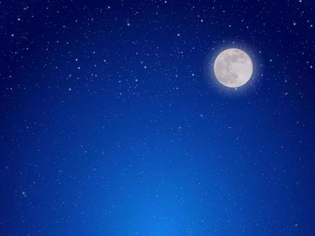 Moon and night sky indigo