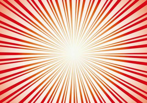 Radiological red red effect line concentrated line frame frame decoration frame picture