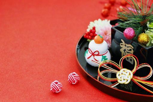 New Year's decoration Kagami mochi New Year's card