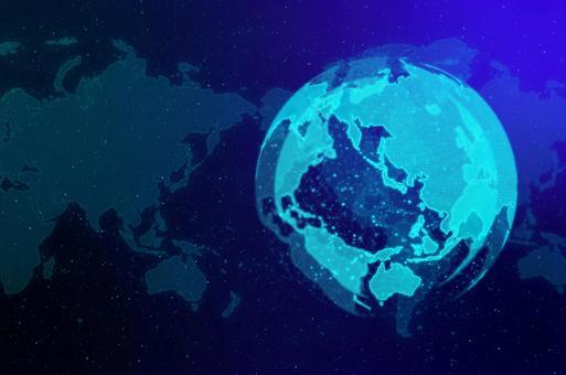 파란 디지털 네트워크 이미지 배경