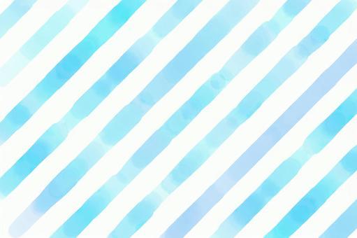 帶斜條紋的淺藍色水彩畫 | 夏季圖像