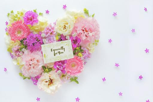 Heart flower and message card