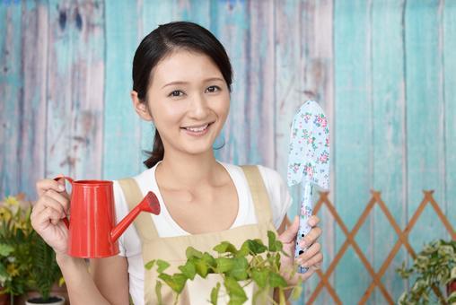 Women enjoying gardening