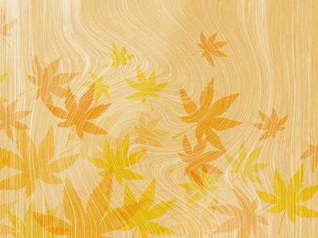 Wood grain autumn leaves background 16090202