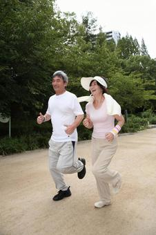 慢跑對老夫婦6