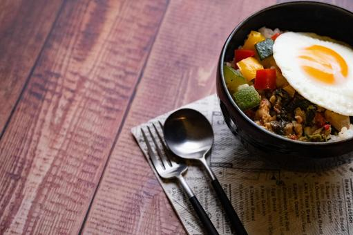 Gapao Rice Thai Food