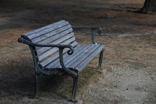 Retro wooden bench