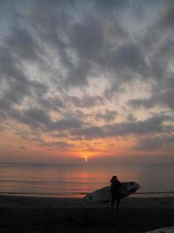 황혼의 가마쿠라 材木座 해안