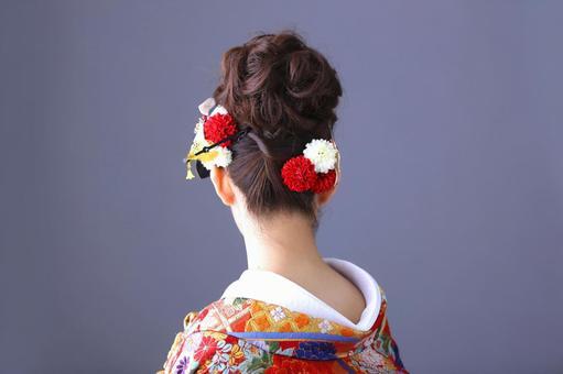 Kimono women and hair ornaments