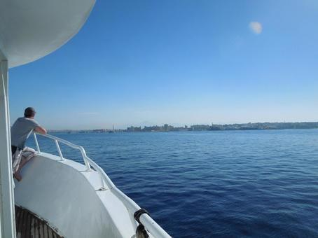 Red sea to see from the boat