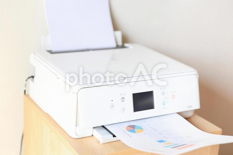 白いプリンターの写真