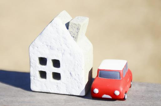 Miniature houses and cars
