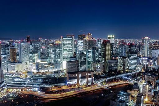 오사카 우메다의 야경